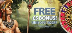 £5  No Deposit Bonus