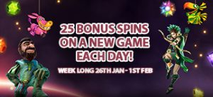 Deposit and Get 25 Spins