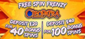 Free spin Frenzy Cleopatra